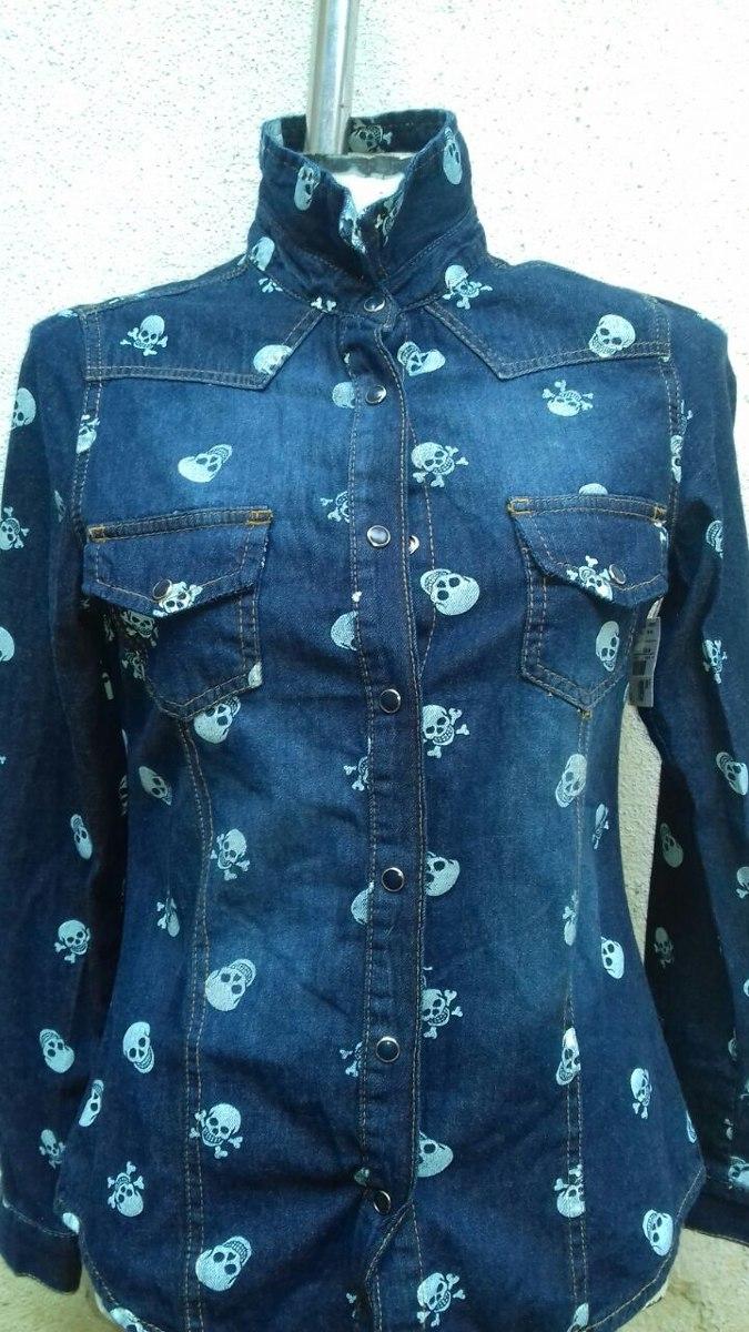 61a7ed4487 camisa blusa jeans feminina manga longa preço atacado. Carregando zoom.