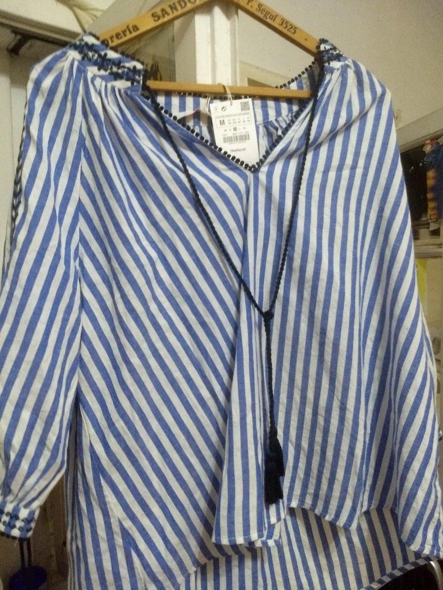 ee753c5f6 Camisa Blusa M Zara Bordada Mujer Importada Nueva Temporada