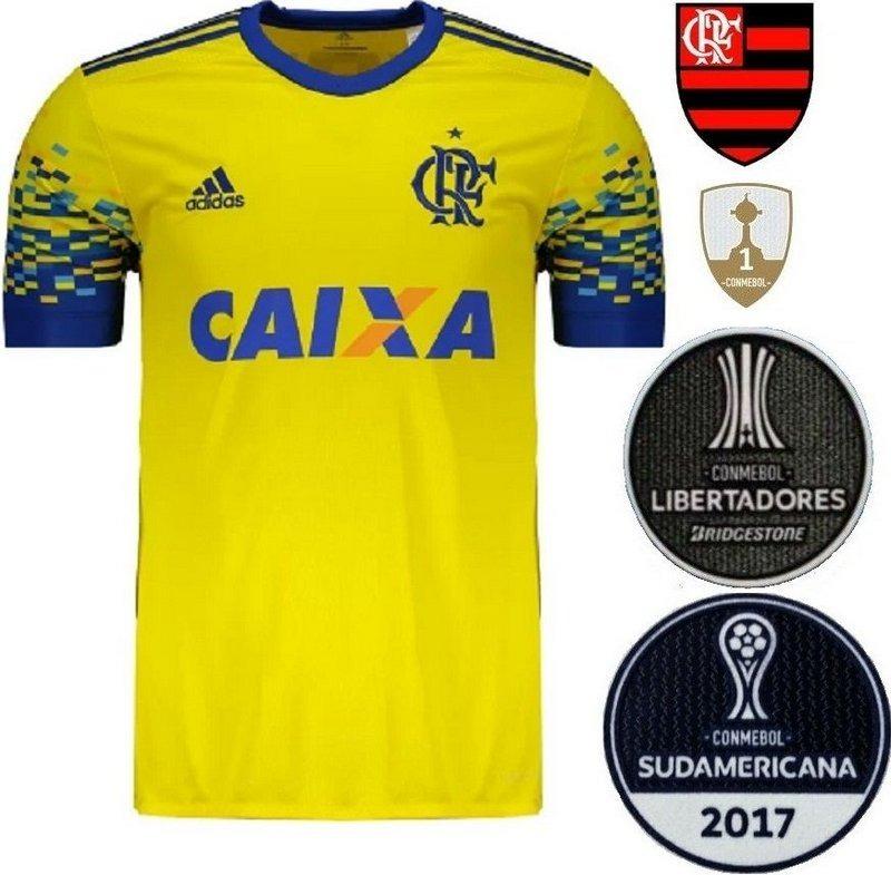 camisa blusa time futebol mengão rubro negro flamengo 2017. Carregando zoom. 4f29138b63aff