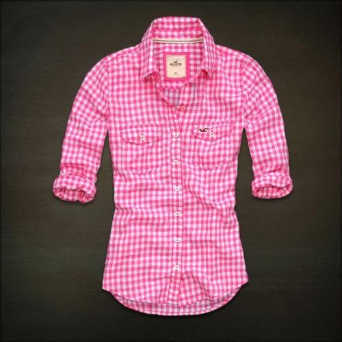 Camisa Blusa Xadrez Feminina Hollister Abercrombie - R  139 160d553eb4e18
