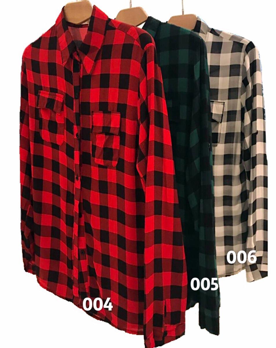 62b35352ce camisa blusa xadrez feminina viscose kit com 2 peças atacado. Carregando  zoom.
