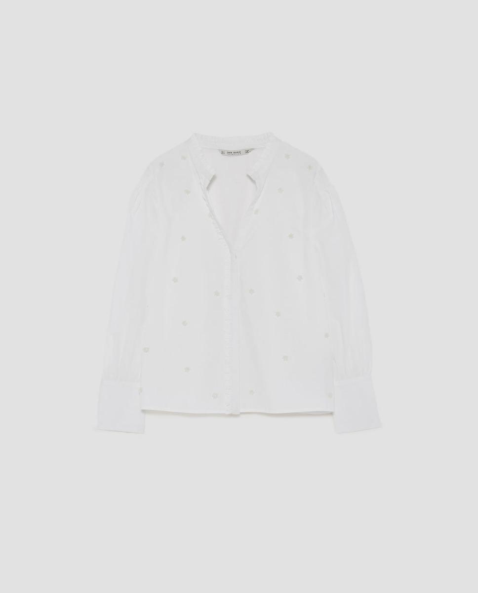 d615d8152 Camisa Blusa Zara Bordada Mujer Importada Nueva Temporada Tr