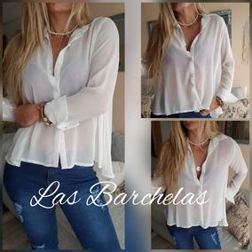8b99aacee8b9 Camisa Blanca Sin Cuello Camisas Chombas Blusas Mujer - Ropa y ...