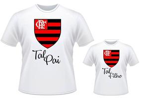 f64f627a74b56c Camisa + Body Flamengo 1 Tal Pai 2 Tal Filho Futebol Time