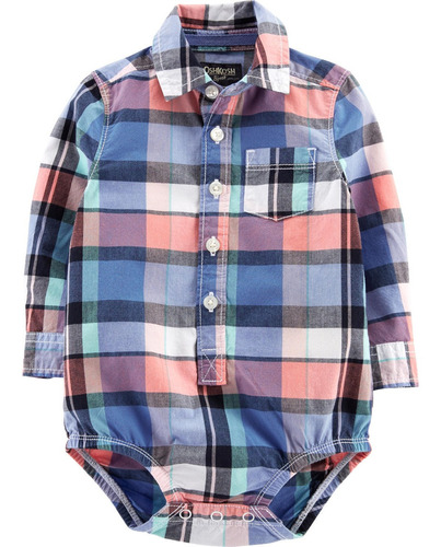 camisa body oshkosh manga larga talle 12 meses