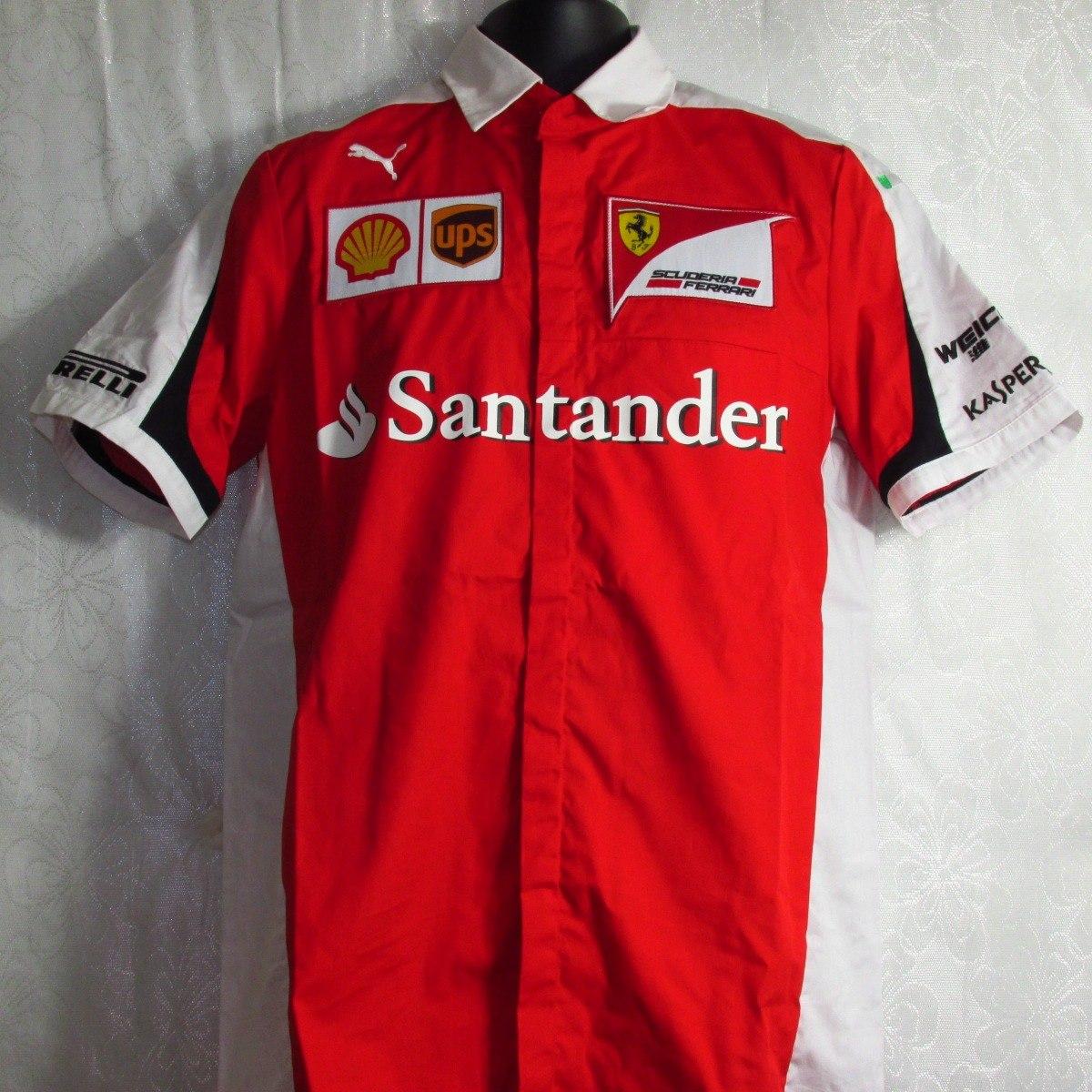 062bfb5932 Camisa + Boné Santander Puma Ferrari 100% Oficial - R$ 399,00 em ...