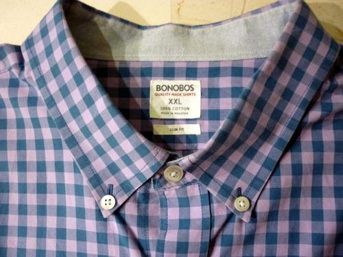camisa bonobos slim fit - fashionella - xl t9k5 t9k0