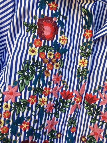camisa bordada importada de mujer