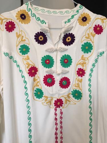 camisa bordada / vestido tailandés