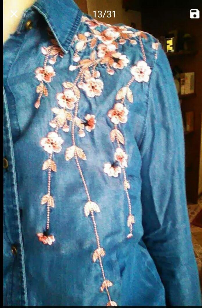 ea6d3a9d95a mujer 2017 zoom importado camisa Cargando moda zara bordado nZtx8T