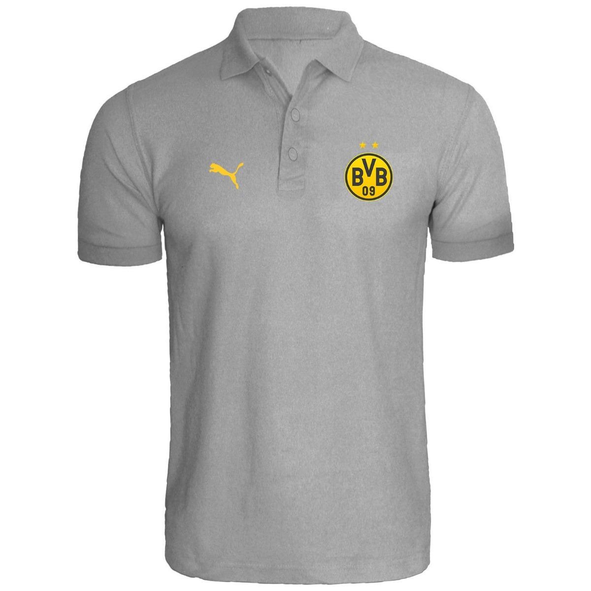 a7003ae7be729 Camisa Polo Borussia Dortmund Bvb Personalizado - R  59