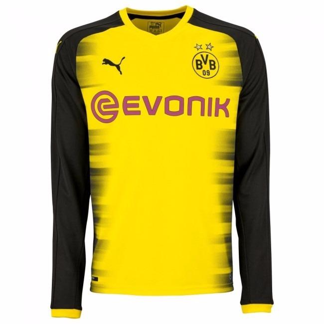 Camisa Borussia Dortmund Champions M Longa 17-18 Importada - R  140 ... 493e7ebd1b763