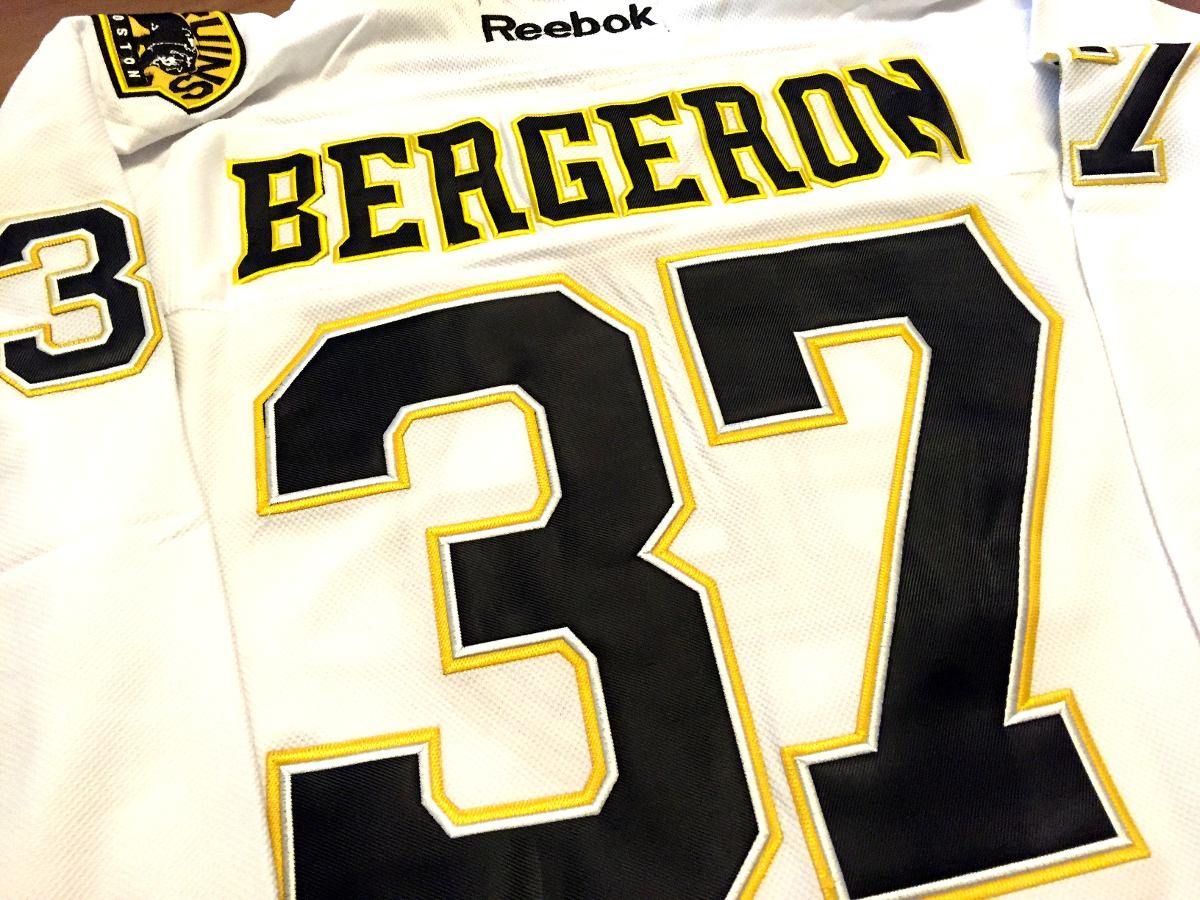 Camisa Boston Bruins Patrice Bergeron  37 Reebok Elite - R  329 f876fa09a9405