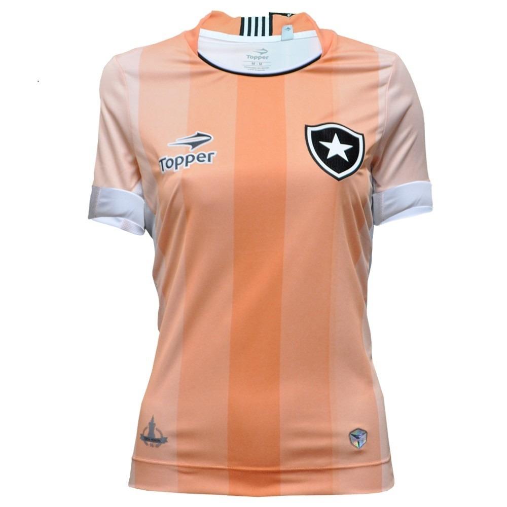 camisa botafogo feminina oficial topper laranja coral 2016. Carregando zoom. 28e12c5205c6e