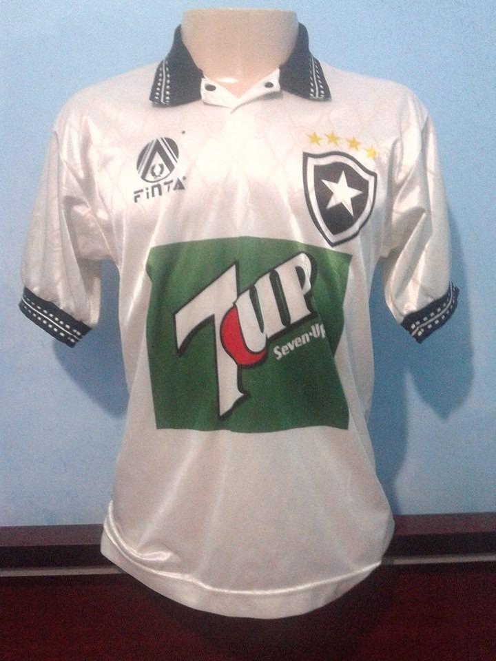3a91d446a60ff camisa botafogo finta 1995-1996 branca seven up. Carregando zoom.