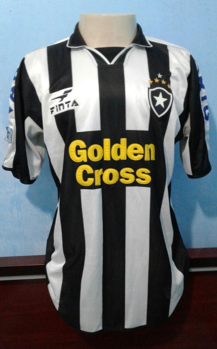 01581a48ed980 Camisa Botafogo Finta 2002 Golden Cross De Jogo  3 Odvan - R  299