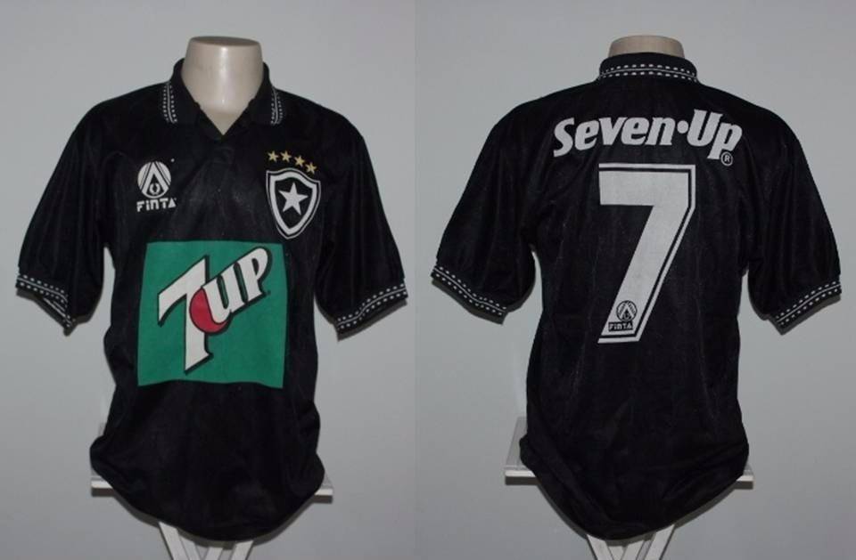 598829249c camisa botafogo finta 7up 1995  7 pintado de jogo - g. Carregando zoom.