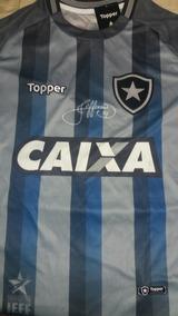 ab9ad2a68 Camisa Botafogo Jefferson - Futebol no Mercado Livre Brasil