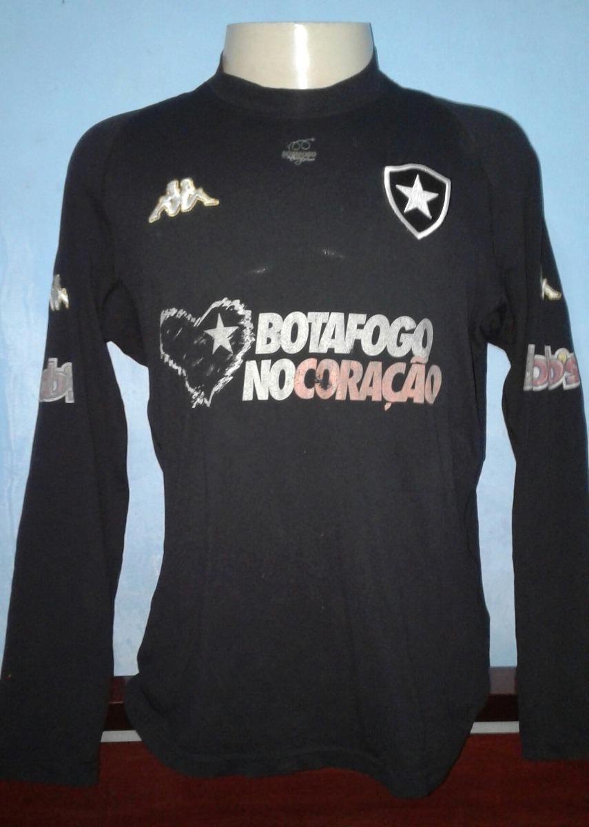 d697f55031 camisa botafogo kappa 2004 preta manga longa de jogo. Carregando zoom.