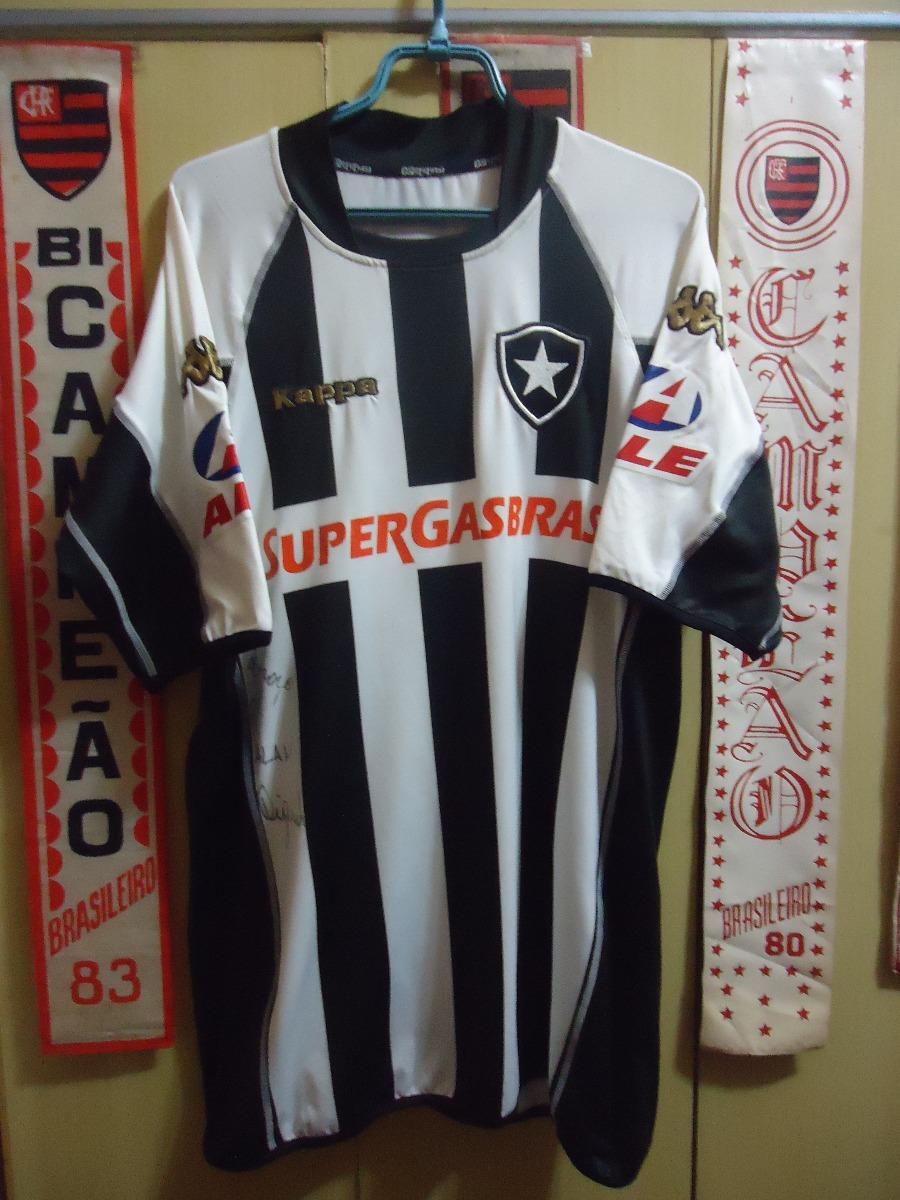 3e35f326864b7 Camisa Botafogo ( Kappa   Nº 7   Autografo Diguinho ) - R  140