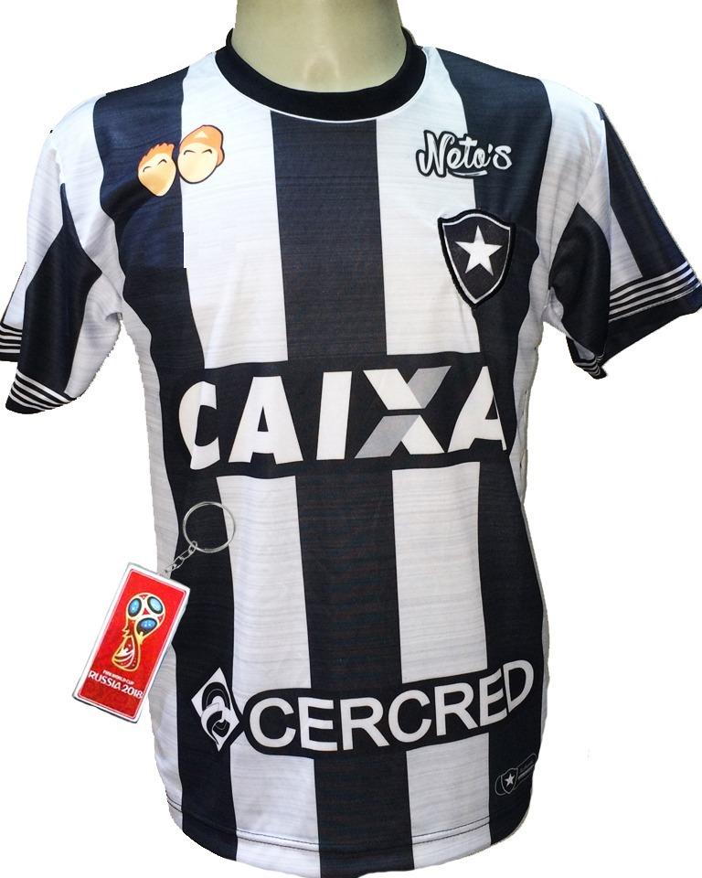 4a6ac15843d5c Camisa Botafogo Listrada Preto Branco 2019 Fogão - R  29