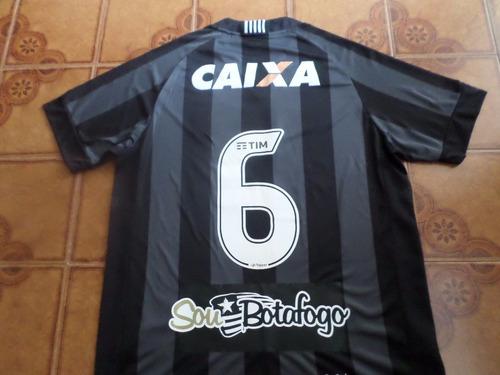 camisa  botafogo  preta  jogo   numero  6    tamanho   g