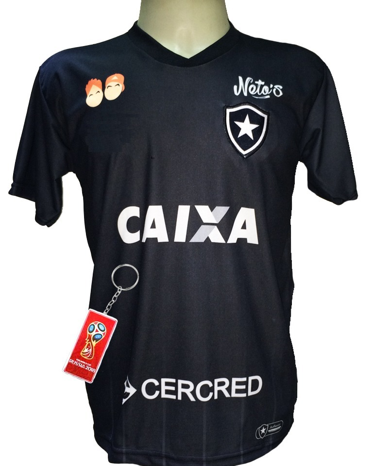 b87f739f14a0d Camisa Botafogo Preto 2018 2019 Fogão - R  29