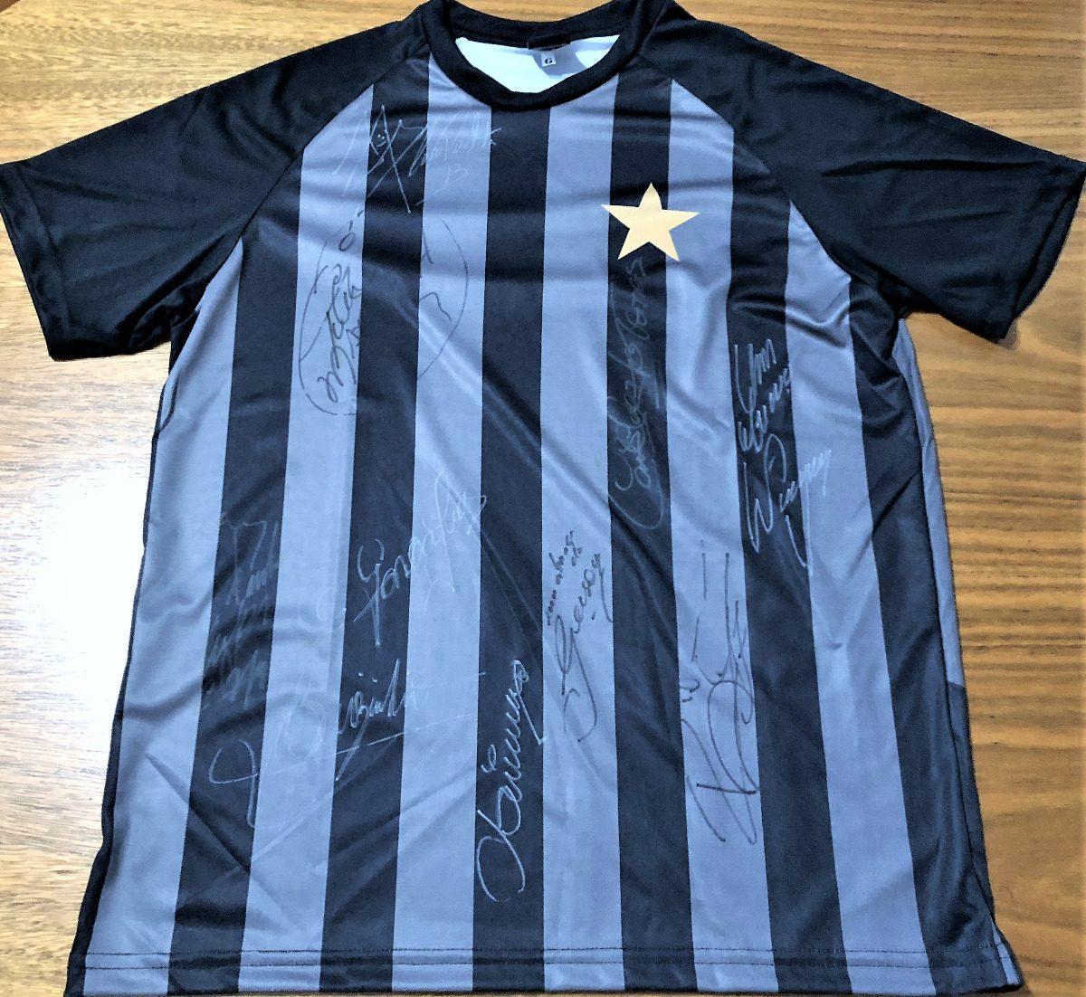748adfbd58 camisa botafogo rj autografada 10 ídolos históricos. Carregando zoom.