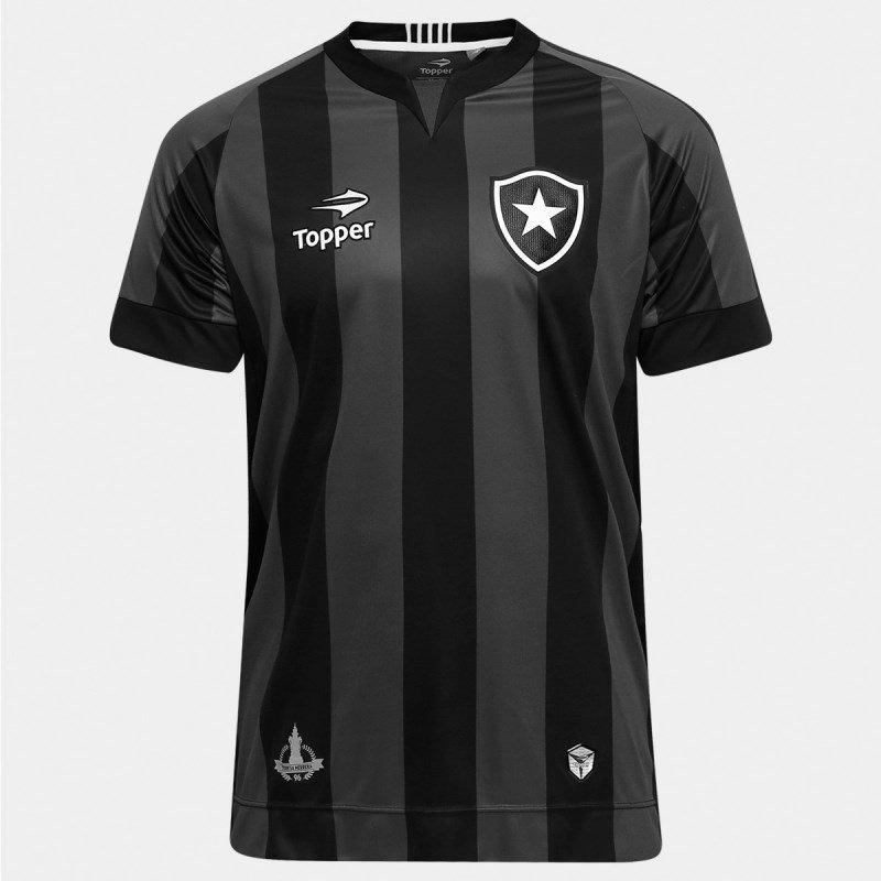 9fffcb5da Camisa Botafogo Topper Oficial 2 4137517 - Preto E Chumbo - R  112 ...