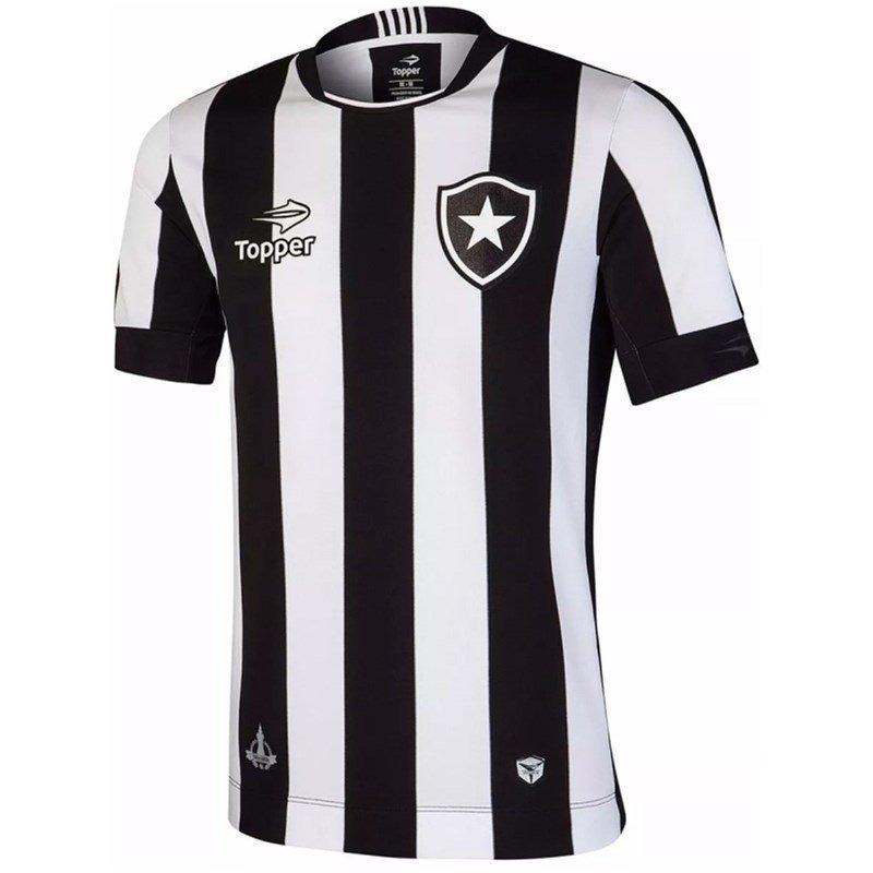 074e0a6b2648f Camisa Botafogo Topper Oficial Home 4137480 - Branco E Preto - R ...