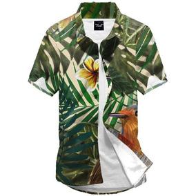 060614108 Colcci Camisa Botao Floral - Camisa Masculino no Mercado Livre Brasil