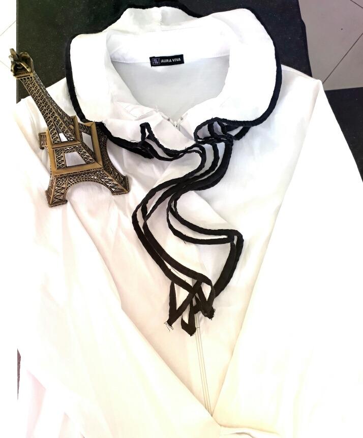 Camisa Branca Aura Viva, Com Babados