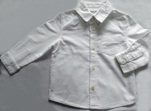 camisa branca infantil para batizado