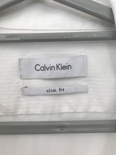 camisa branca masculina manga longa calvin klein