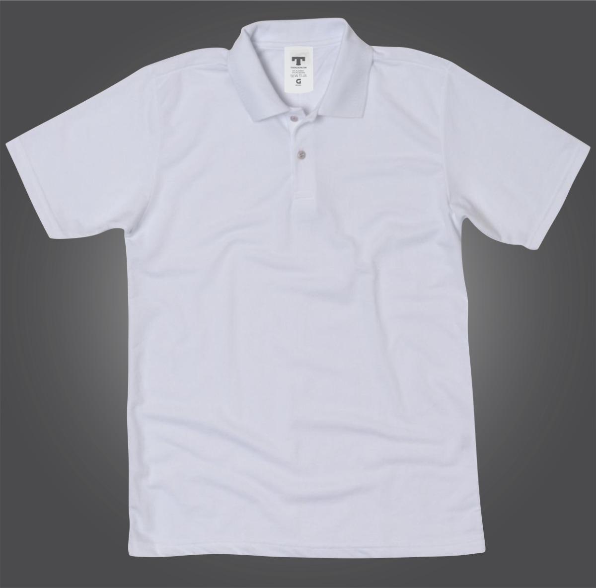 c609321afa Camisa Branca Polo Branca Blusa Polo Branca Para Uniforme - R  39