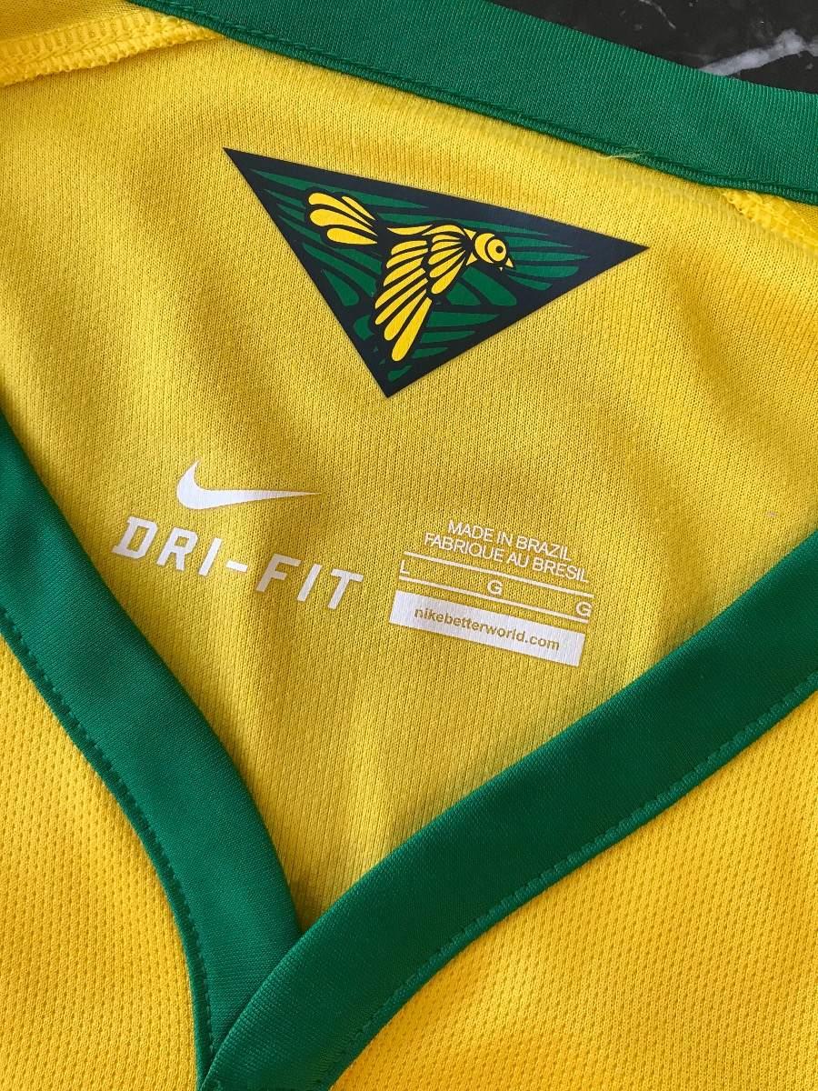 camisa brasil 2014 com patches da copa - mod torcedor. Carregando zoom. f4f2cbab7080b