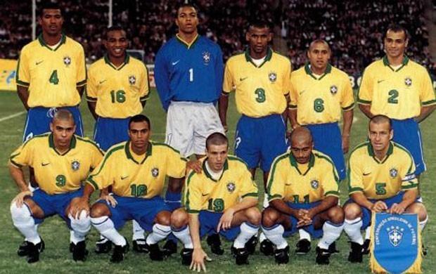 8b1c11a928 Camisa Brasil Antiga Campeão Copa Confederações 1997 -7 - R$ 399,00 ...