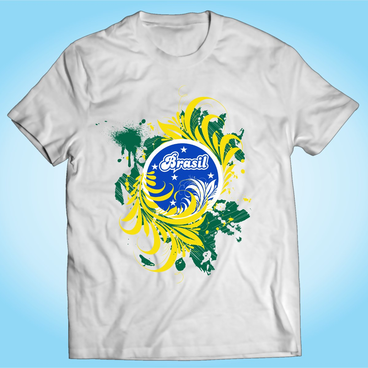 camisa brasil aquarela bandeira samba natureza personalizada. Carregando  zoom. b2cdf61064f86