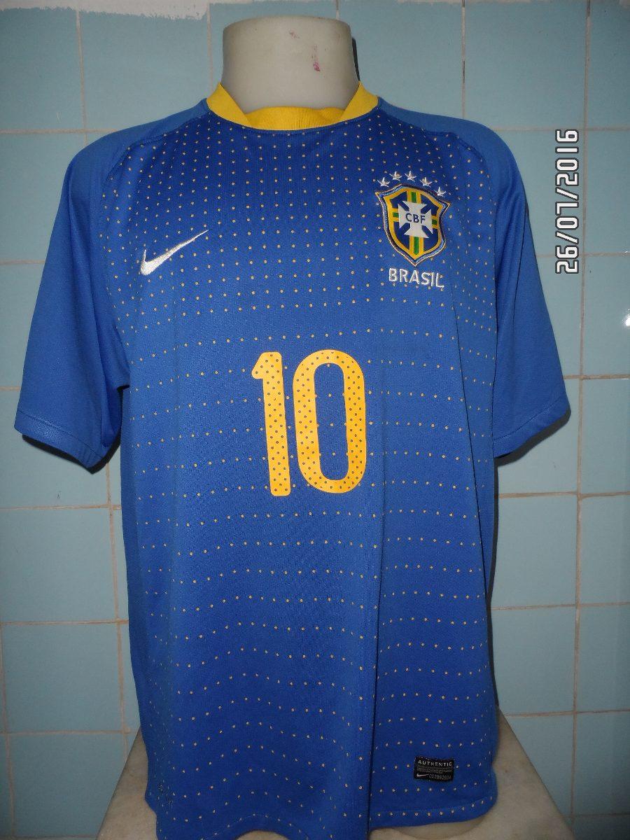 camisa brasil azul copa de 2010. Carregando zoom. bcb308982f4e8