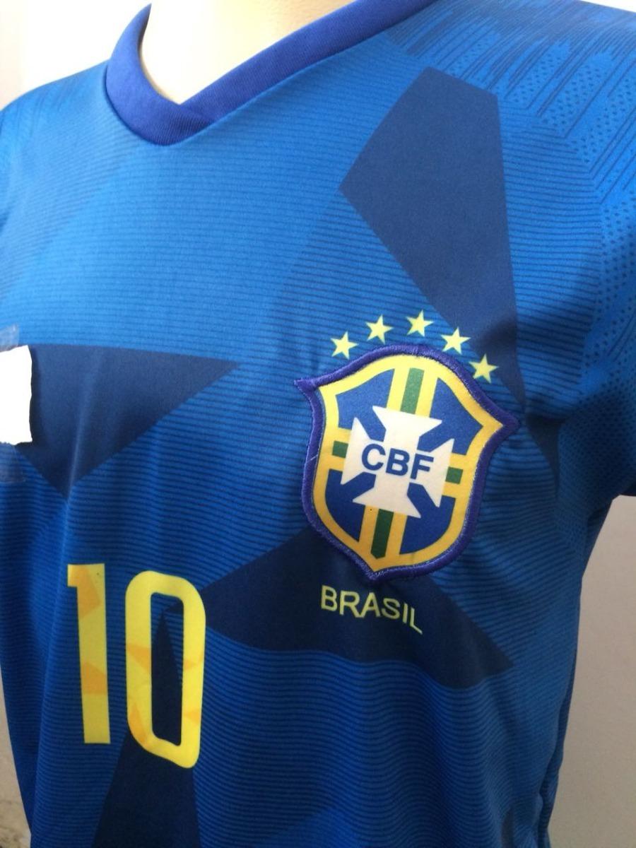 camisa brasil azul copa lançamento 2018 barato. Carregando zoom. a2694ff9d9552