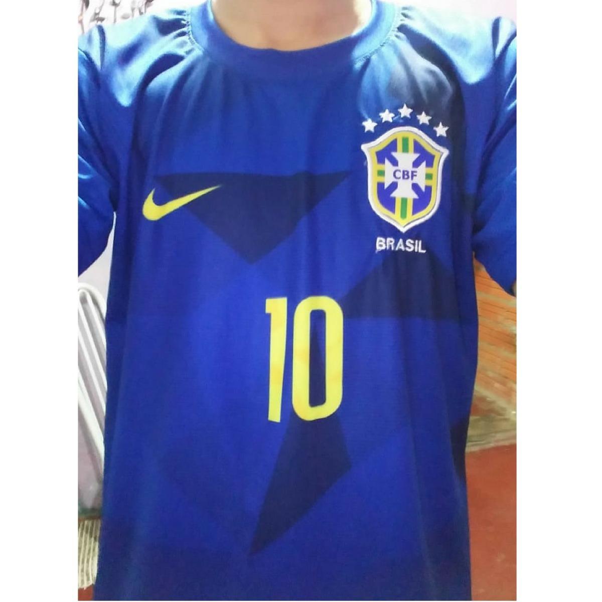 camisa brasil azul neymar copa 2018 nike seleção brasilei. Carregando zoom. 52d5c2817b6fb