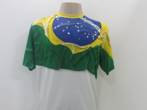 camisa brasil braziline bandeira oficial super promoção 50%