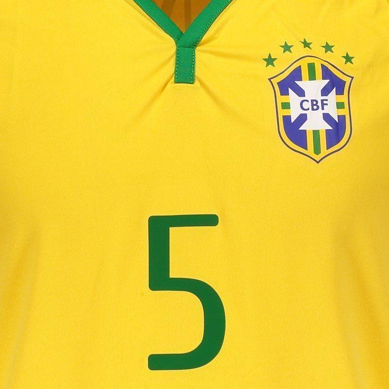 dc80fe6db1fed camisa brasil cbf 5 casemiro. Carregando zoom.