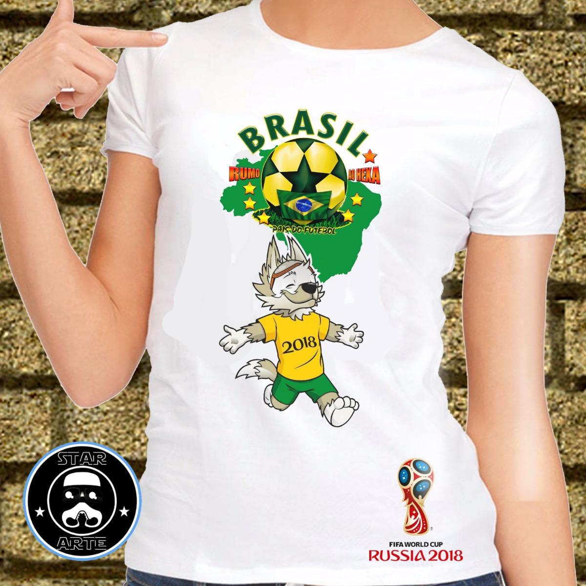 camisa brasil copa 2018 baby look personalizada. Carregando zoom. 0e572547fbe3a