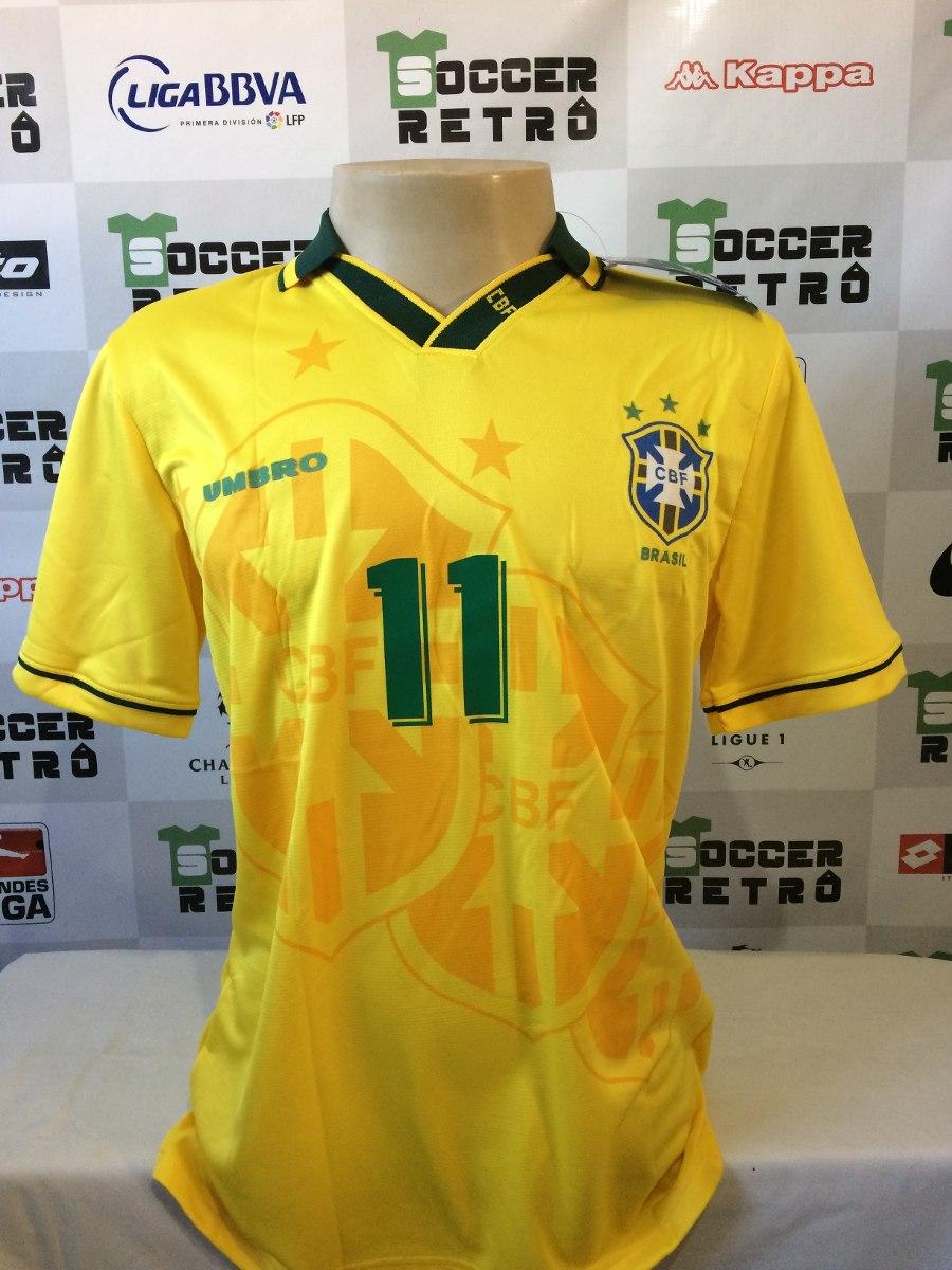 142cacf98f Camisa Brasil Copa Do Mundo 1994 Romario 11 - R$ 219,00 em Mercado Livre
