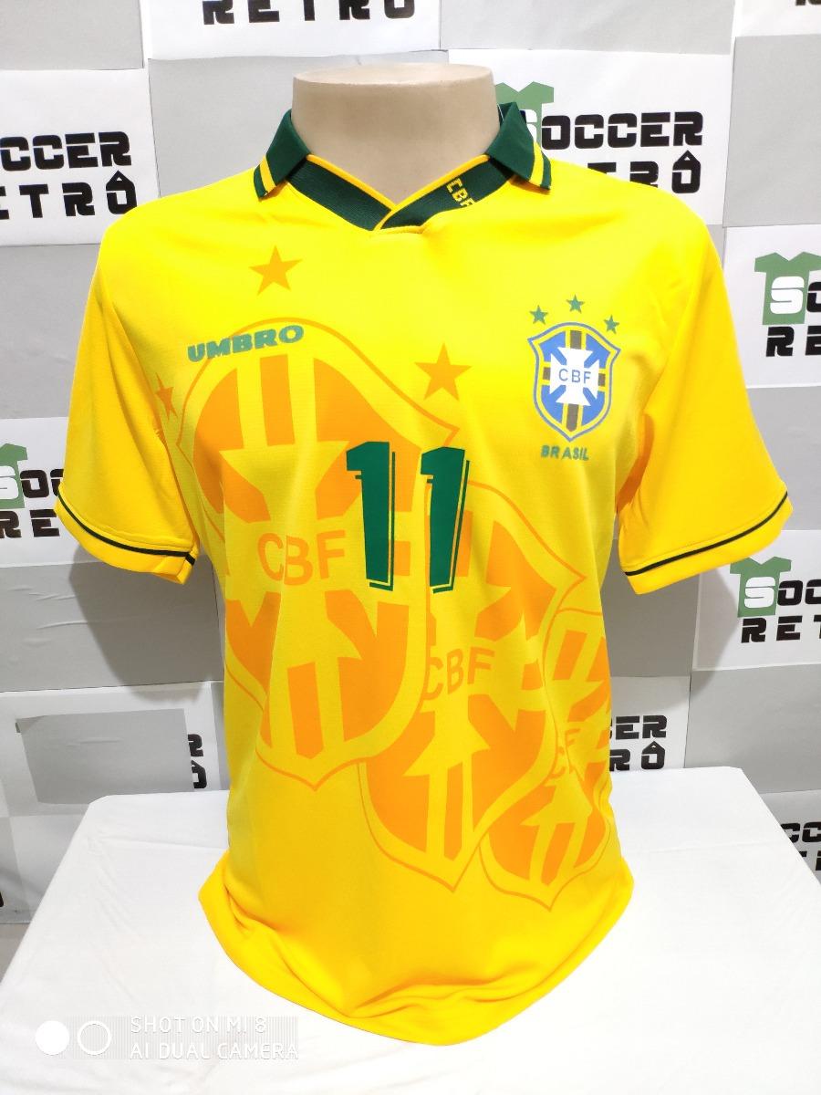 db9dac123b camisa brasil copa do mundo 1994 romario 11 à pronta entrega. Carregando  zoom.