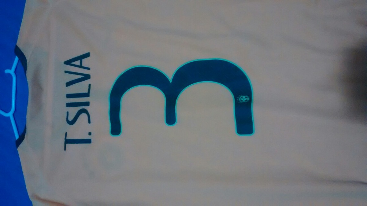 camisa brasil copa tiago silva. Carregando zoom. c86f4b429324a