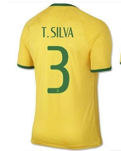 Camisa Brasil Copa Tiago Silva Nova - R  99 cee0d4afde552