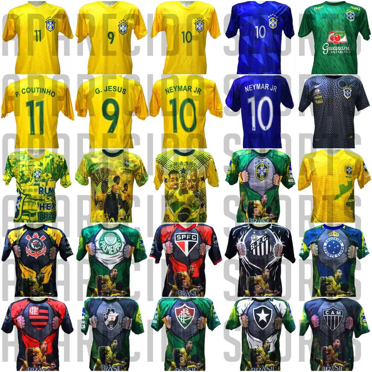 aded8228b2 camisa brasil coutinho neymar gabriel jesus - amarela. Carregando zoom.