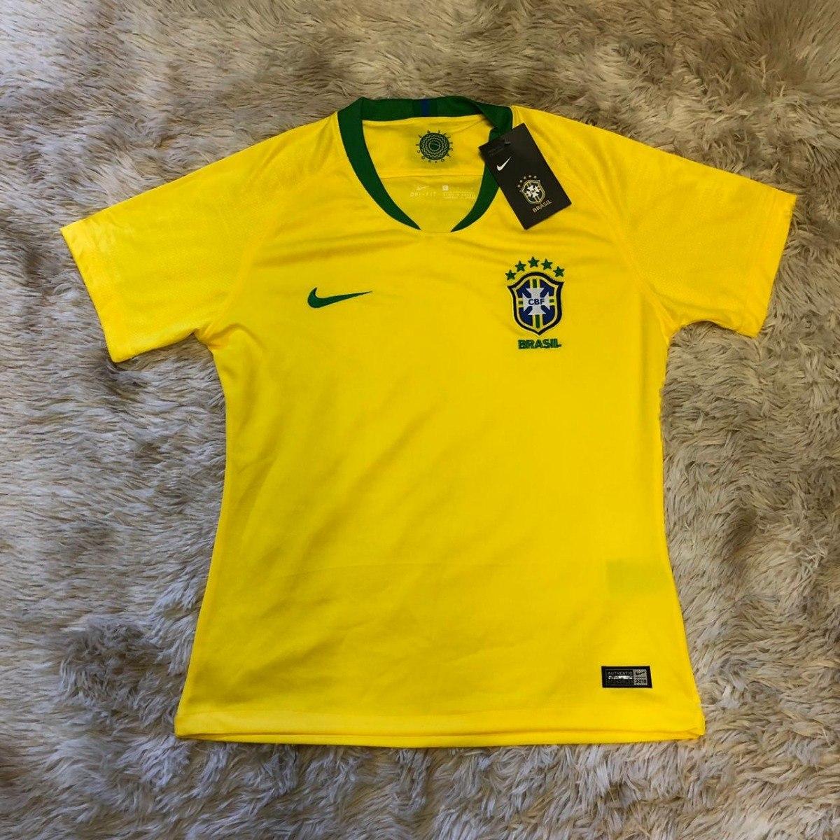 f95b262e14ef3 Camisa Oficial Do Brasil Feminina 2018 Copa Muito Barato - R  119
